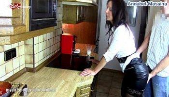 wife in black stockings