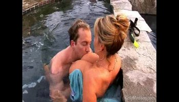 big tits in the pool