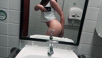 hot girls in the bathroom