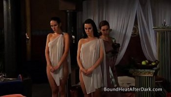 beautiful women in a threesome