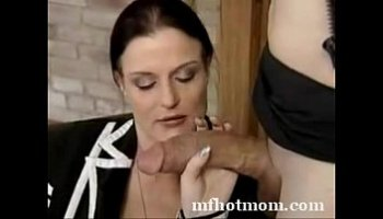 wife tries huge cock