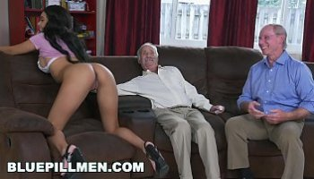 old men and young women having sex